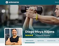 Entrenar.me - Web design prototype