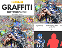 Graffiti Photoshop Action with Pop Up