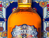 Stained glass Chivas Regal