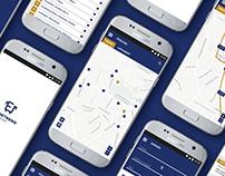 Bus timetable app design for Eger