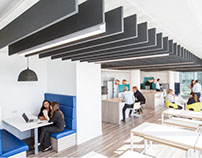 Collaborative environment with acoustic panels