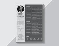 Free Grey Resume Template