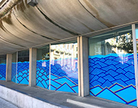 TAPE ART WINDOW FACADE // WATERFRONT