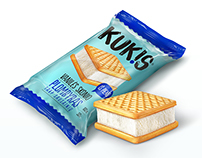 "Ice cream ""KUK!S"" Packaging."