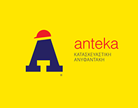 ANTEKA construction, logo & identity redesign