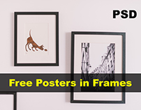 Free realistic poster In Frame Psd