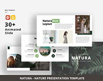Free | Natura – Nature Business PowerPoint Template