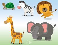 Ilustraciones Vectoriales de Animales Salvajes