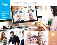 Main page concept for Lenga Telecom