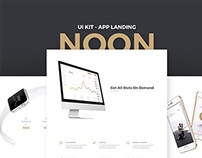 Noon UI Kit - App Landing