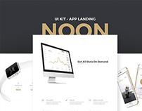 Noon UI Kit - App Landing
