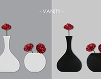 Vanity - saving space wall vases