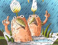 "Illustrations for the children's book ""A rakoncátlan ki"