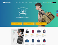 Shopify theme & Magento theme for vintage bags store