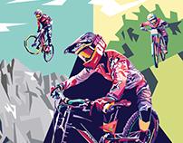 Polygon Bike Illustration