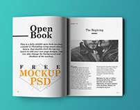 Realistic Open Book Mockup (Free Download)