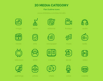 FREEBIES - 20 Media Category Icons