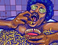 Tub Of fries- Tasty treat