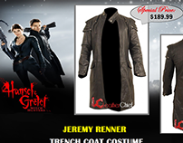 Hansel and Gretel Jeremy Renner Trench Coat Costume