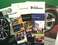 Auto Dealership Sales, Service + Financing Brochures