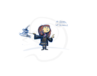 Harry Potter's Hermione Granger - wingardium levitas