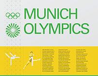 Munich Olympics Landmark Poster