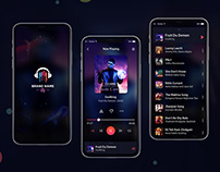 Mobile Music Player Ui Design PSD