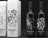"Serigraphy Design for ""Dosmil"" Wine Bottles"