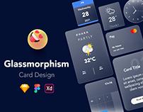 Glassmorphism UI Card Design