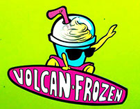 Volcan Frozen (logo para empresa en Playa del Carmen)
