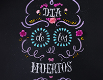 Sugar Skull Food Typography