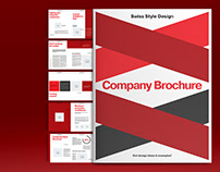 Red Business Brochure Layout