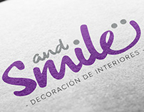 Branding - And.. Smile. Decoración de interiores