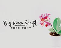 BIG RIVER - FREE ELEGANT HANDWRITTEN SCRIPT FONT