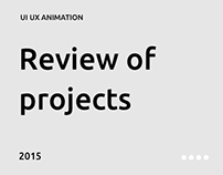 Review of projects 2015