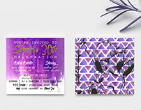 Saunder's 30th Birthday Invitation & RSVP