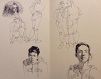 Portraits et autres croquis