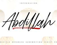 Abdillah Script Font