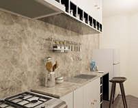 Kitchen Interior Design Video Render