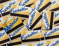 MTA Fucks You Daily Stickers