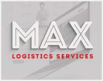 Logistics services. Landing page
