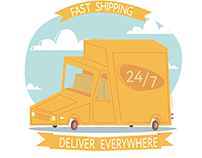 illustration for delivery services