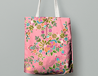 flower textile design