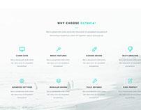 Octavia Landing Page – Free PSD