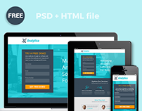 Analytica FREE  Landing Page - Free PSD + HTML