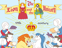 Nursery Rhyme Poster Design: The Lion and the Unicorn