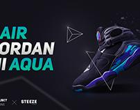 Air Jordan 8 Aqua Poster - Concept Project