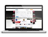 Car sale website skin designs for Nissan