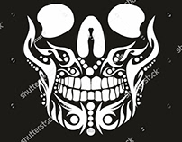 Skull graphic design vector art