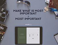 StudyCal App Concept - UI/UX